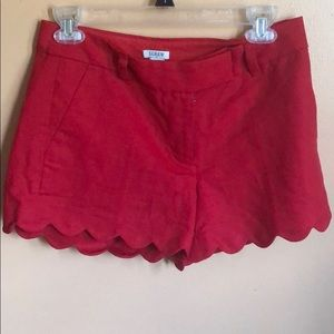 J crew scalloped shorts